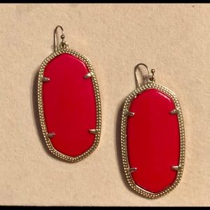 Kendra Scott Danielle Bright Red Earrings